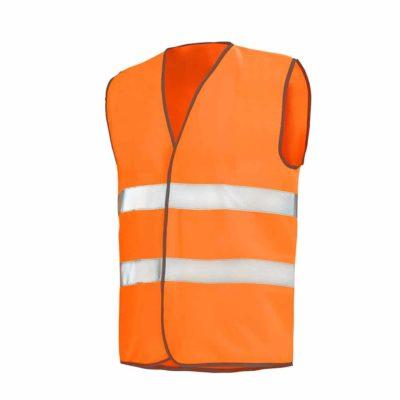 Gilet haute visibilite orange