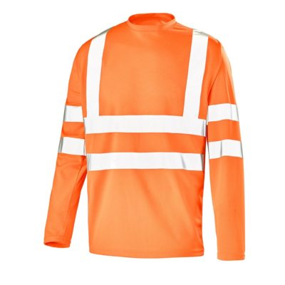 Tee-shirt manches longues orange